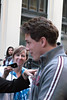 John Barrowman at the stage door (kirstiefuller) Tags: west london john la theatre cage end playhouse aux 2009 westend folles lacageauxfolles playhousetheatre johnbarrowman barrowman