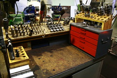 Milling station (evershedm) Tags: metal kurt chuck bridgeport bison wilton vise milling machining keyless collets