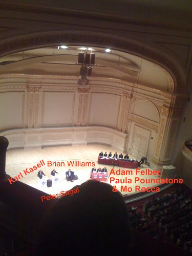 Wait wait don't tell me at Carnegie Hall!
