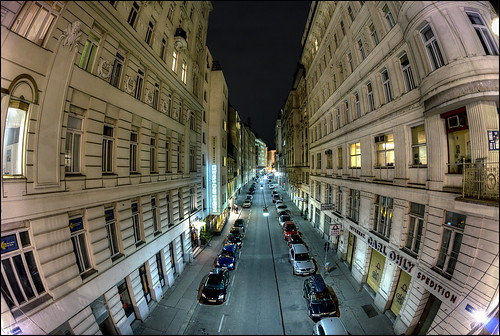 Tiefer Graben In Vienna Seen From The Wipplingerstraße