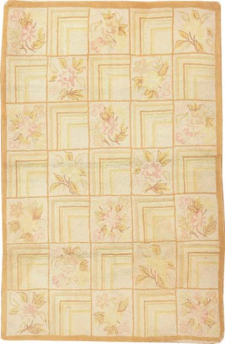 Antique American Hooked Rug #2607 by Nazmiyal Collection