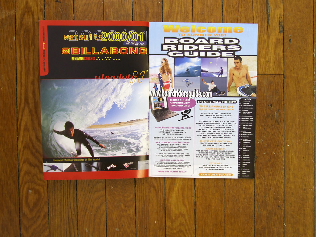 Board Riders Guide Catalogue - Summer 2001