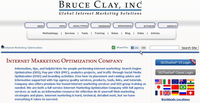 Home Page BruceClay.com Facebook Like