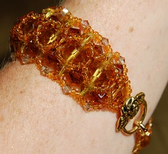 DSC_0123-1 (Chaumurky) Tags: golden amber costume crystal jewelry tudor jewellery bracelet bead swarovski dor honeycomb beaded lattice