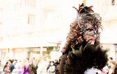Carnaval (Eclipse_ibz) Tags: color luz persona calle gente paula carnaval mascara mariposa plumas
