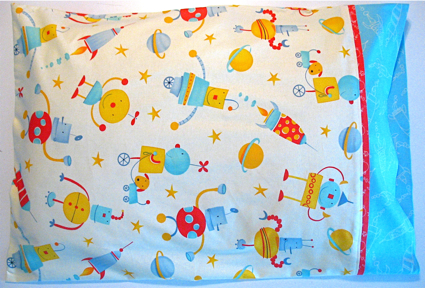 Skate's new pillowcase