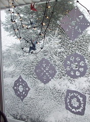 paper and real snowflakes