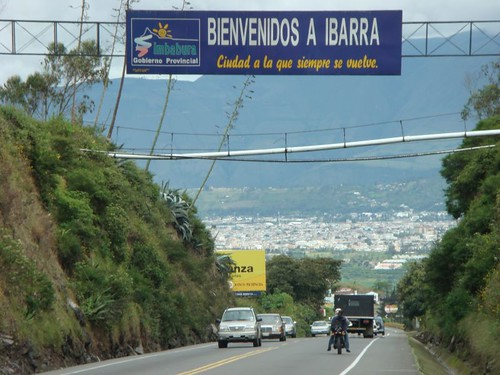 Just passing through Ibarra, on my way to Colombia.
