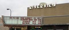 Riverview Marquee, outside the vintage Riverview Theater, Minneapolis, Minnesota, August 2007, photo © 2007-2009 by QuoinMonkey. All rights reserved.