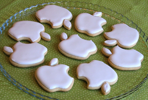 Apple Logo Cookies