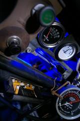 Vices (Shutter Theory) Tags: longexposure lightpainting vacuum oil nightshots atnight 1973 gauges volt datsun butterscotch slowshutterspeed 620 inthedark lightpaint l20b bulletside justpentax pl620 allphotoswanted