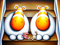 Do You Come Here Often? (Peter Smith Artist) Tags: cute art animal illustration painting naive popular showcase zeppo petersmith impossimal