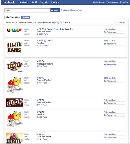 M&M's auf Facebook
