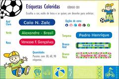 Etiquetas Termocolantes coloridas