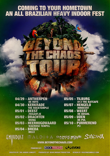 flyer beyond the caos tour