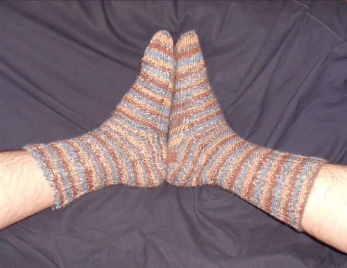 Shadow Check Socks - Completed
