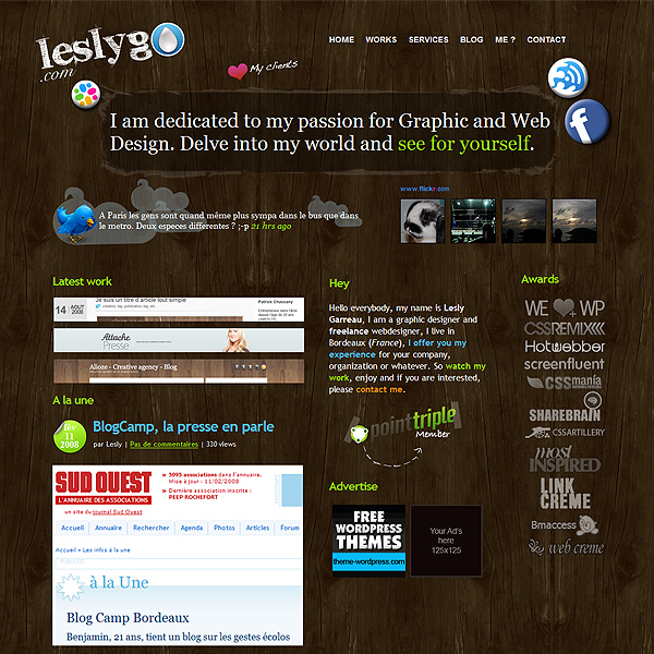 Lesyg website that uses color well.