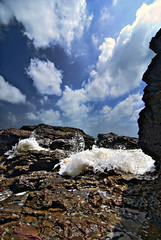 Kemasik Beach Part 6 (Firdaus Mahadi) Tags: sky cloud beach water rock clouds digital landscape sand scenery views malaysia awan ultrawide minimalist batu pulau pantai kemasik terengganu pasir langit pemandangan ombak uwa minimalis kemaman pantaikemasik visitterengganu kemasikbeach tokina1116mmf28 firdausmahadi firdaus
