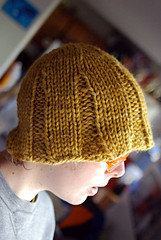 mustard floppy flared hat