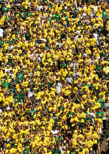 Oregon Football Crowd