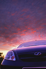 Viva la Sun (framptoP - E.V.I.L. Photographer) Tags: sunset car sony sarawak malaysia borneo motor viva hdr perodua flickraward sarawakborneo iamflickr sonyalpha350