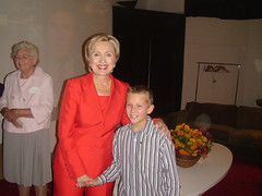 Ellyn Rosas, Jarred Steding and Hillary Clinton at Shop Studios