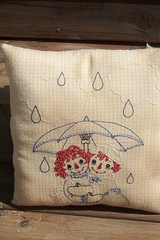 Rainy Day (stitchin.thyme) Tags: stuffed folkart hand stitch handmade embroidery sewing jennifer country craft pillows pillow homemade needle stitching embroidered thyme stitchery primitive byhand embroider primitivestitchery stitchin stitchinthyme