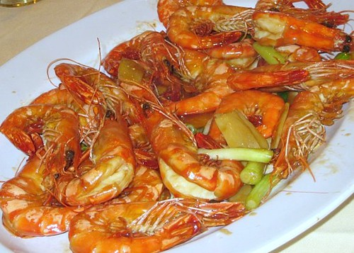 Stir-Fried Herbal Prawns
