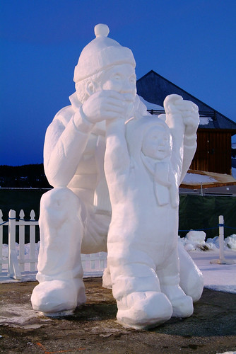 A snow sculpture at the Breckenridge, CO International Snow Sculpture Championships. Image by Jeff Scroggins.winter breckenridge colorado adler