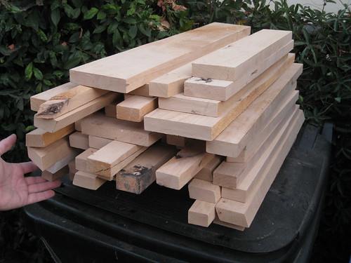 longer pieces of alder scrap
