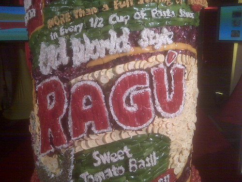 Ragu bottle made of veggies
