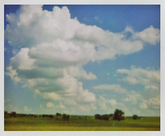 oklahoma skies | may 22. 2009 (a midwest girl) Tags: travel film oklahoma analog polaroid highway roadtrip analogue spectra interstate40 instantfilm westofthemississippi