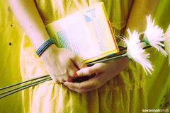 207.365 [8782] (photosbysavs) Tags: flowers portrait selfportrait yellow daisies self canon paint polkadots 365 nancydrew canon30d