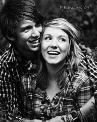 Gemma and Andrew (Peter&JaneBurns) Tags: blackandwhite canon couple photoshoot flashphotography lastolite speedlite 430ex blackwhitephotos strobist 40d ezybox peterandjaneburns