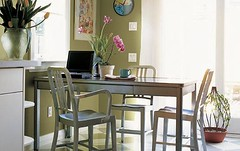 Home Office (decorology) Tags: wallpaper green notebook au entryway greenroom greenpaint dominomagazine modernretro greendecor earthpalettes