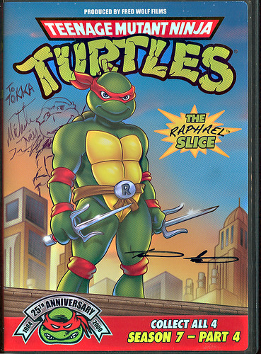 Teenage Mutant Ninja Turtles 25th Anniversary: Season 7  - PART 4 DVD clamshell  // signed by 'Special Features' Fans - Michelle Ivey & Stephan Reese of  'Disney Interactive' (( 2009 ))
