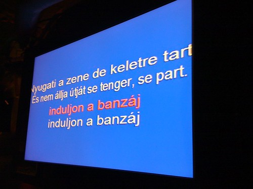 Hungarian karaoke