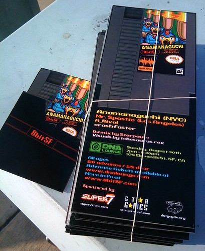 NES themed fliers that @ekimtiki & I designed for @anamanaguchi's upcoming 8bitSF show.