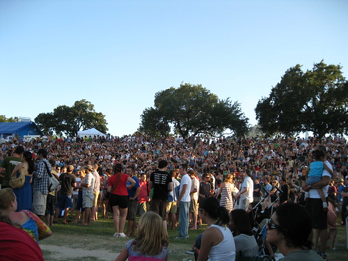 Crowd watching Broken Social Scene