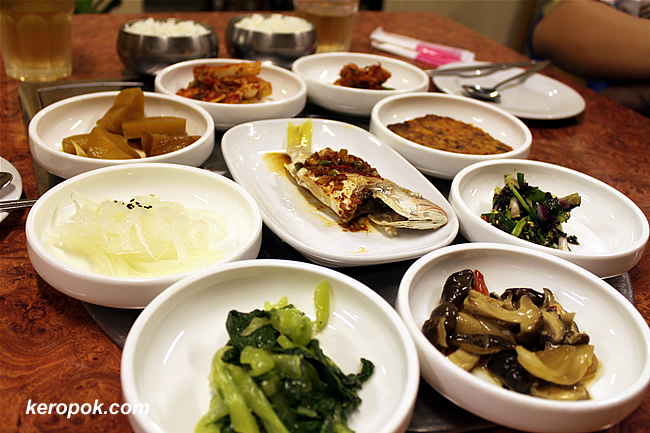 Array of side dishes