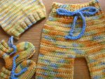 Fall Harvest - Baby Boy - Newborn/Small Longies, Hat, and Booties - Tierney ~~SALE