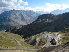 Col du Galibier (xNstAbLe) Tags: street panorama france mountains alps green alpes landscape pano motorbike moto turns alpi galibier coldugalibier