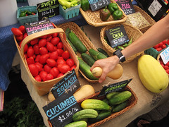 Colorful veggies at the Moore Square Farmers M...