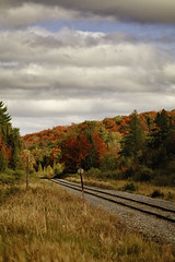 serenity (Marty Hogan) Tags: railroad fallcolor michigan upperpeninsula wisconsincentral marquettecounty lakemichigamme duluthsouthshoreatlantic