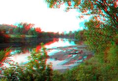 JimF_09-05-09-0010a up the Little Sioux at Oto (jimf0390) Tags: tree river stereoscopic stereophoto 3d rustic anaglyph iowa driftwood snag oto redcyan 3dimages 3dphoto 3dphotos 3dpictures