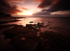 Nairn - West Beach, looking across the Moray Firth (freeskiing) Tags: longexposure sunset sea seaweed beach scotland highlands rocks dramatic september explore inverness nairn rockpool gloaming morayfirth sigma1020mm dramaticcloud highlandsofscotland nd110 ndgrad09 benthorburn