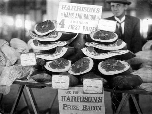 Display of bacon and ham at the Royal Adelaide Show