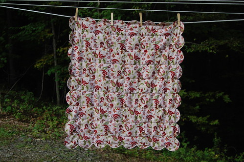 scalloped baby blanket - front