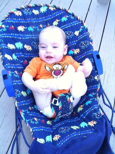 Colin Enjoying the Deck