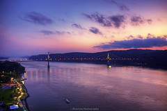 Mid-Hudson Bridge (Maurizio Photography) Tags: travel sunset sky newyork mountains fall clouds canon reflections river lights twilight colorful suspension dusk magic scenic sharp poughkeepsie valley hour catskills span hdr dutchesscounty hudsonvalley midhudsonbridge rebelxsi canoneosdigitalrebelxsi mauriziophotography